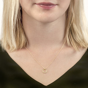 London Road - Large Yellow Gold Meridian Pendant