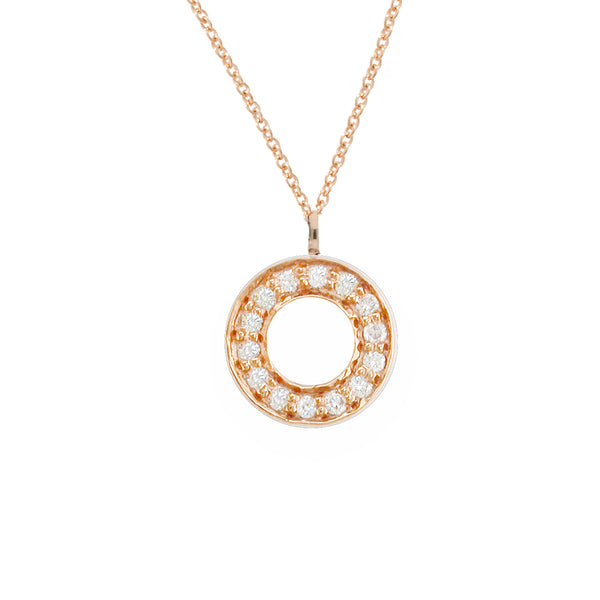 London Road - Rose Gold Meridian Pendant