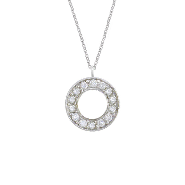 London Road - White Gold Meridian Pendant