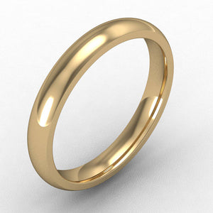 18ct Yellow Gold Court - 3mm