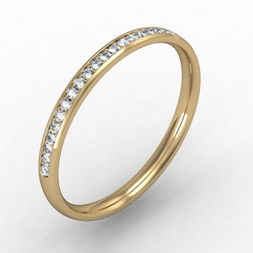 18ct Yellow Gold Micro claw set Diamond - 2mm