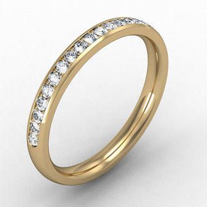 18ct Yellow Gold Micro claw set Diamond - 2.5mm