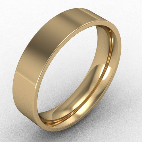 18ct Yellow Gold Flat court - 5mm