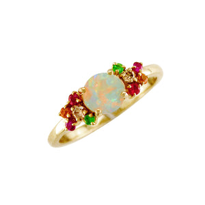 London Road - Opal & Multi Gem Ring