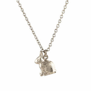 Alex Monroe Sitting Bunny Necklace