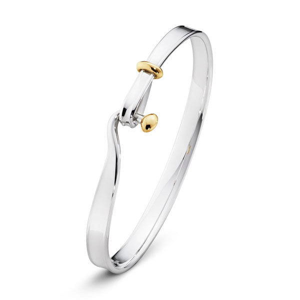 Georg Jensen - Silver & Yellow Gold Torun Bangle