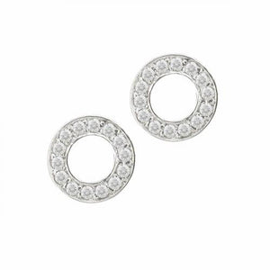 9ct White Gold Diamond Meridian Stud Earrings
