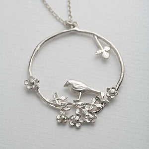 Alex Monroe - Flowery Bird Loop Necklace