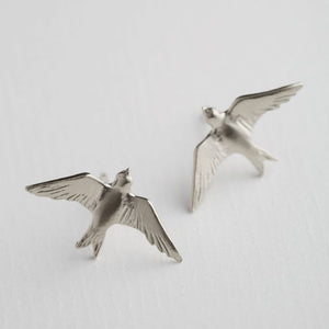 Alex Monroe - Flying Swallow Stud Earrings