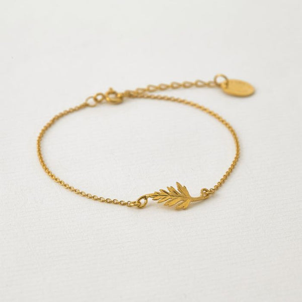 Alex Monroe - Little Fern Leaf Bracelet