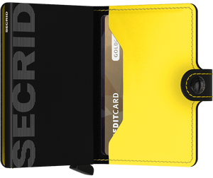 Secrid - Matte Black & Yellow Miniwallet