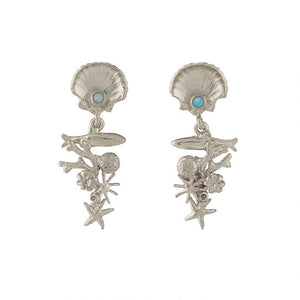 Alex Monroe - Coral Reef Drop Earrings