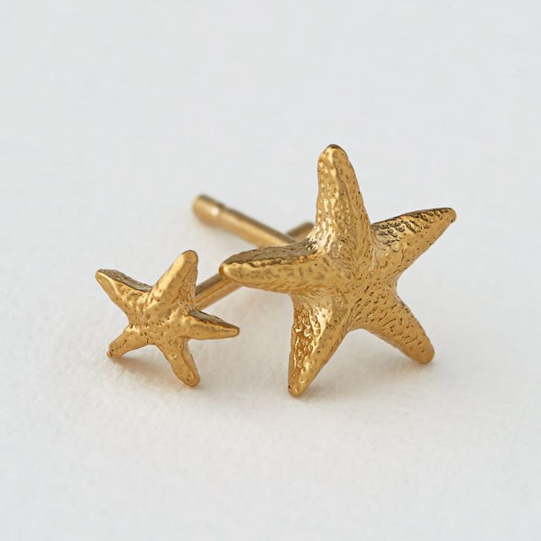 Alex Monroe - Asymmetric Starfish Stud Earrings