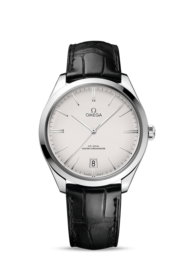 Omega - De ville Trésor on Black Leather Strap