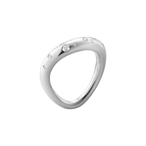 Georg Jensen Offspring Ring - Silver with Diamonds