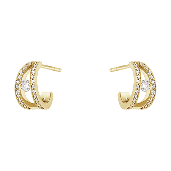 Georg Jensen Halo Ear Hoops - Double Pave