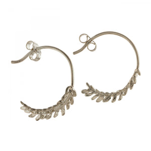 Alex Monroe - Honey Fern Loop Earrings
