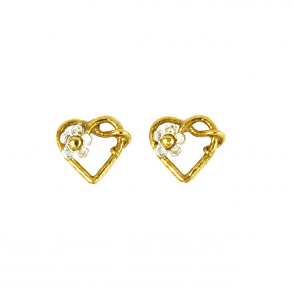 Alex Monroe - Posy Heart Stud Earrings
