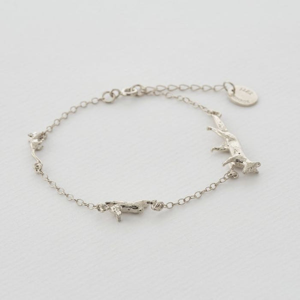 Alex Monroe - Fox, Rabbit & Mouse Chase Bracelet