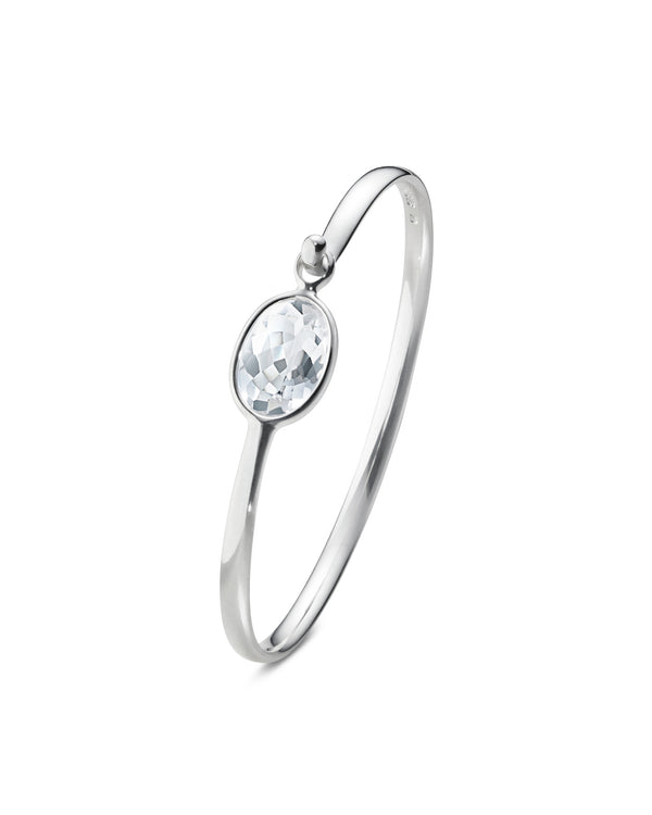 Georg Jensen - Savannah Bangle with Rock Crystal