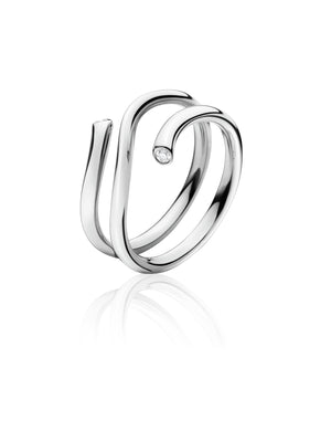 Magic ring - Outer Section White gold