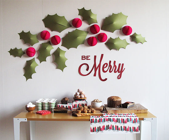 HOW TO: Holiday Holly Wall