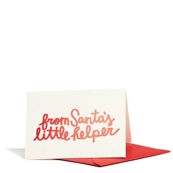 From Santa's Little Helper Enclosure Card