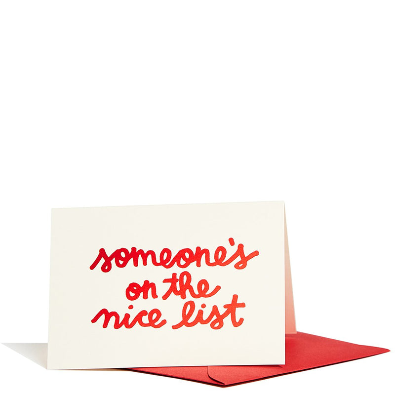 Someone's on the Nice List Enclosure Card