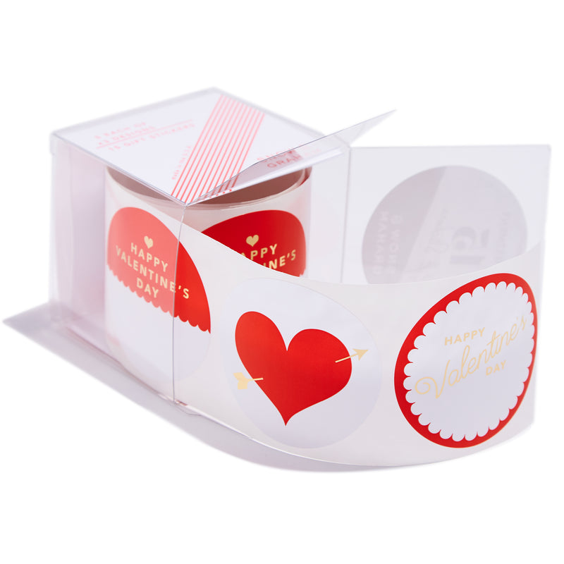 Red Valentine Gift Stickers