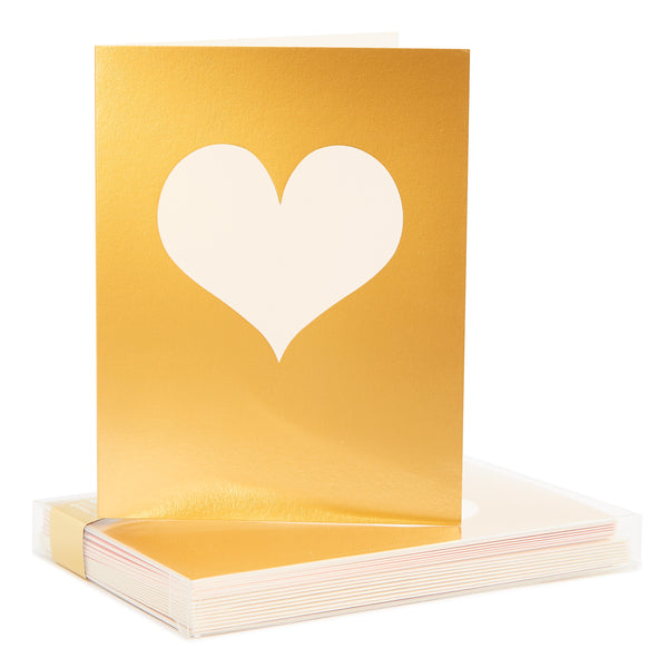 Reverse Gold Heart Noteset