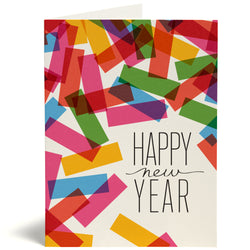 confetti new year card