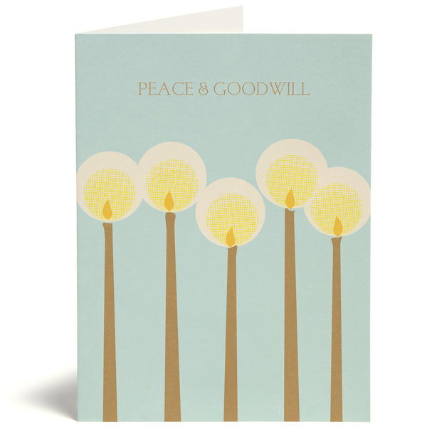 Peace Candles Card