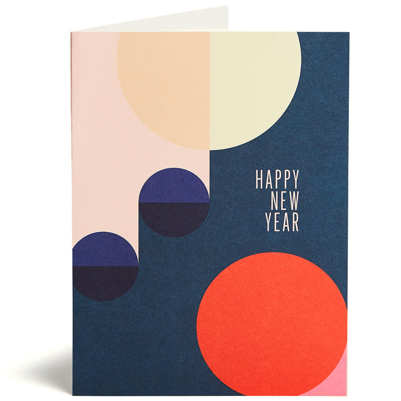 Geometric New Years Card