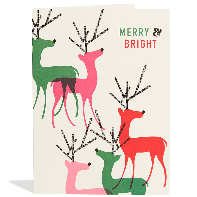 Bright Reindeer Card