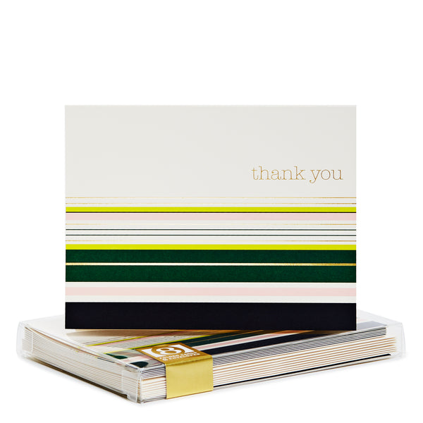Stripes Gold Foil Noteset