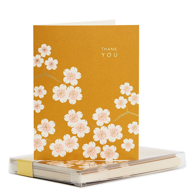 Cherry Blossom Gold Foil Noteset