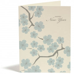new year cherry boxed card