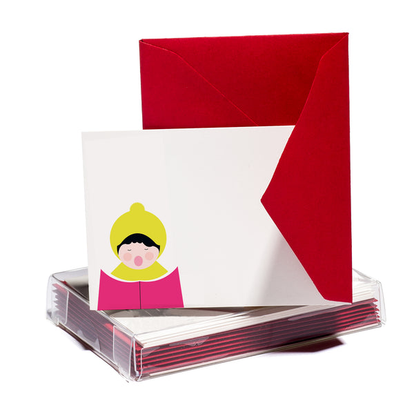 Caroler Tiny Card