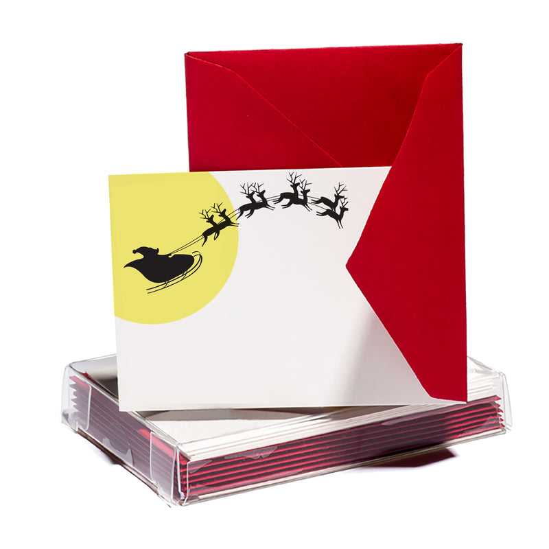Santa's Sleigh Tiny Card