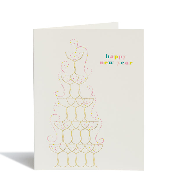 Champagne Tower Card
