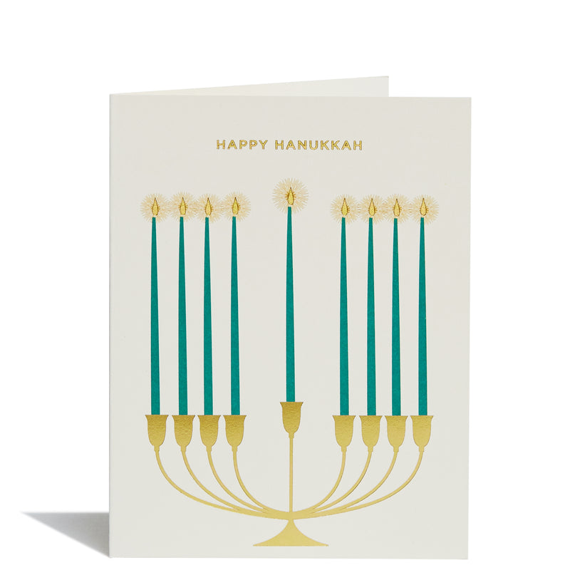 Menorah Foil Card