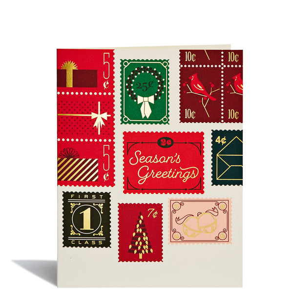 Holiday Stamps Foil Card