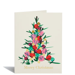 Painted Tree Foil Card
