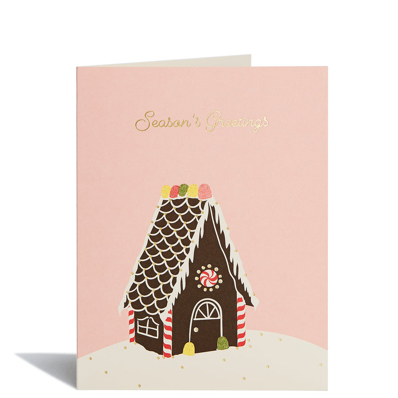 Gingerbread House Foil Card