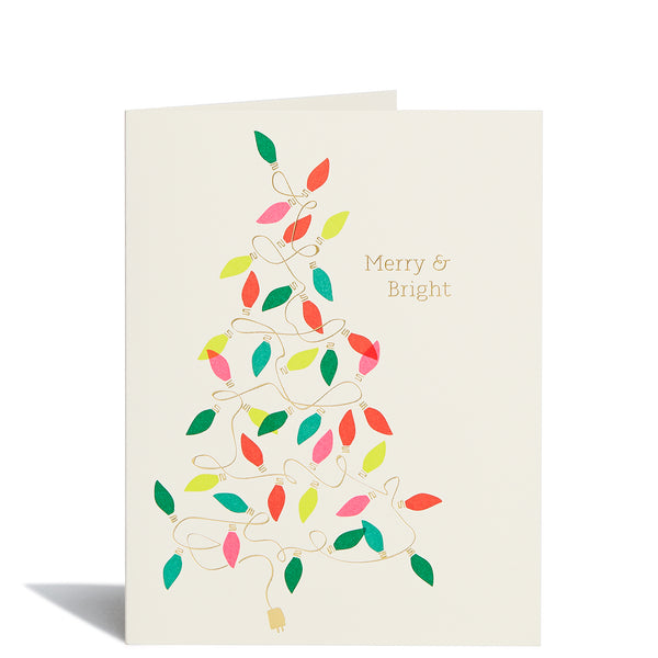 Tree Lights Foil Card