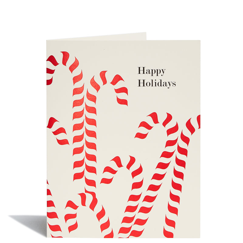 Candy Canes Foil Card