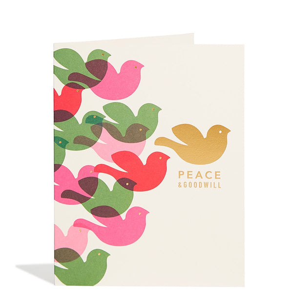 Peace Doves Foil Card