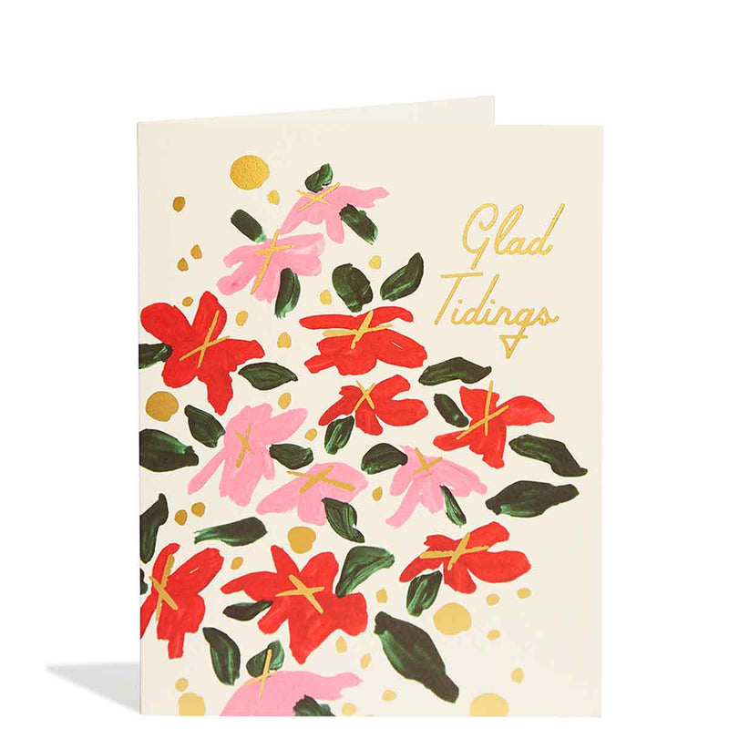 Poinsettia Foil Card