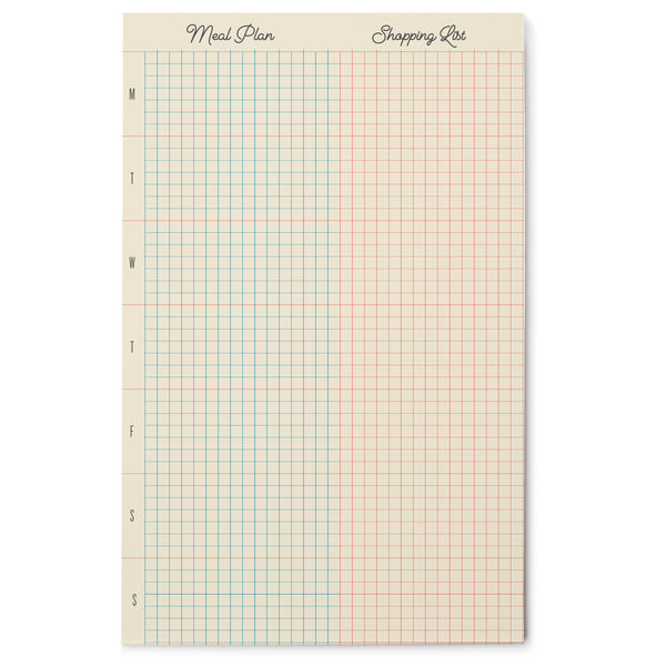 Meal Plan Grid Pad