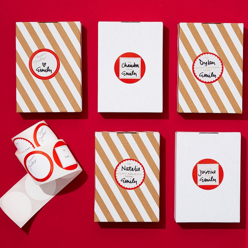 Holiday Red Gift Stickers